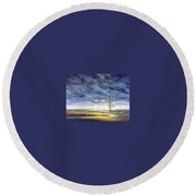 Sunlight On The Marshes 18x24 Round Beach Towel