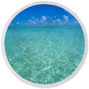 Sunlight Reflections Round Beach Towel