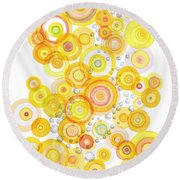 Sunlight Ripples Round Beach Towel