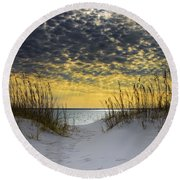 Sunlit Passage Round Beach Towel