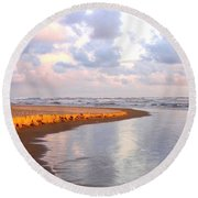 Sunlit Shores Round Beach Towel