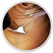 Sunlit Slot Canyon Round Beach Towel