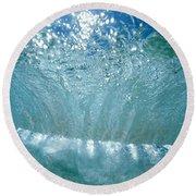 Sunlit Wave Round Beach Towel