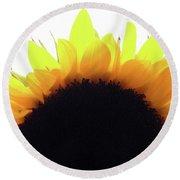 Sunflower Rise Round Beach Towel