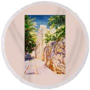Sunny Day. Round Beach Towel