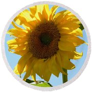 Sunny Day Round Beach Towel