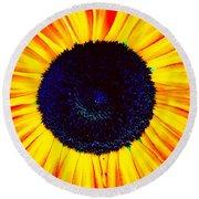 Sunny Flower Round Beach Towel