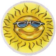 Sunny Round Beach Towel