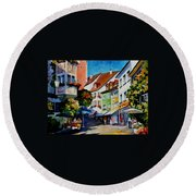 Sunny Meersburg - Germany Round Beach Towel