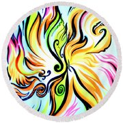 Sunny Morning. Abstract Vision Round Beach Towel