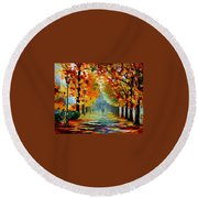 Sunny October Round Beach Towel