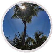Sunny Palm Round Beach Towel