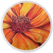 Sunny Perspective Round Beach Towel