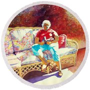 Sunny Retreat 3 Round Beach Towel by Kathy Braud