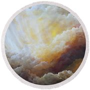 Sunny Side Of Life Round Beach Towel