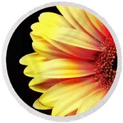 Sunny Side Over Easy Round Beach Towel
