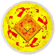 Sunny Thoughts Round Beach Towel