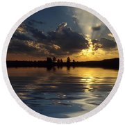 Sunray Sunset Round Beach Towel
