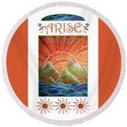 Sunrays - Arise New Day Round Beach Towel
