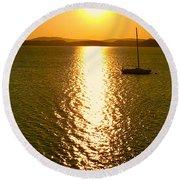 Sunrise 6 8 17 Malletts Bay Round Beach Towel