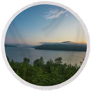 Sunrise Allegheny National Forest Round Beach Towel