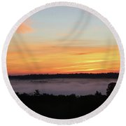 Sunrise Amongst The Clouds Round Beach Towel
