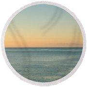 Sunrise And Serene Ocean Round Beach Towel