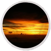 Sunrise At 38k Over El Salvador Round Beach Towel