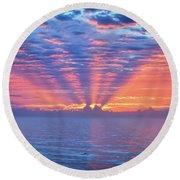 Sunrise At Atlantic Beach Round Beach Towel