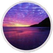 Sunrise At Bray Head, Co Wicklow Round Beach Towel