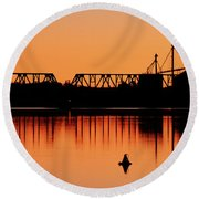 Sunrise At Burbank Round Beach Towel