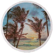 Sunrise At Cattlewash 3 Round Beach Towel