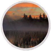 Sunrise At Connery Pond 1 Round Beach Towel