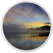 Sunrise At Connery Pond 3 Round Beach Towel