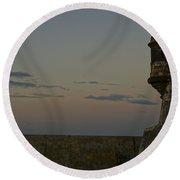 Sunrise At El Morro Round Beach Towel