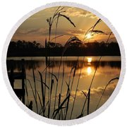 Sunrise At Grayton Beach Round Beach Towel