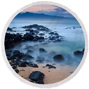 Sunrise At Ho'okipa - Sunrise At Hookipa Beach In Maui Round Beach Towel