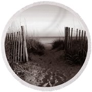 Sunrise At Myrtle Beach Sc Round Beach Towel