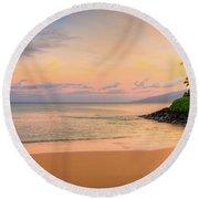 Sunrise At Napili  Round Beach Towel