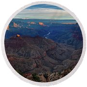 Sunrise At Navajo Point Round Beach Towel by John Hight