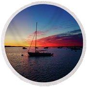 Sunrise At Provincetown Pier 1 Round Beach Towel