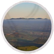 Sunrise At Sao Miguel Island Round Beach Towel