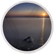 Sunrise At Sodus Point Round Beach Towel