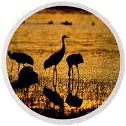 Sunrise At The Crane Pools Round Beach Towel