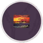 Sunrise At The Jetty 6-23-15 Round Beach Towel