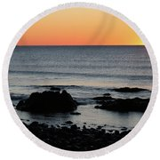 Sunrise At York Beach Round Beach Towel