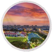 Sunrise By Mrt Station In Eunos Singapore Round Beach Towel