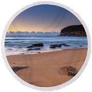 Sunrise By The Seaside Round Beach Towel