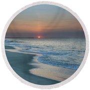 Sunrise - Cape May Beach Round Beach Towel