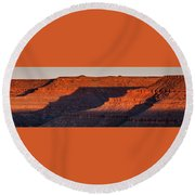 Sunrise Cascade Round Beach Towel by Lon Dittrick